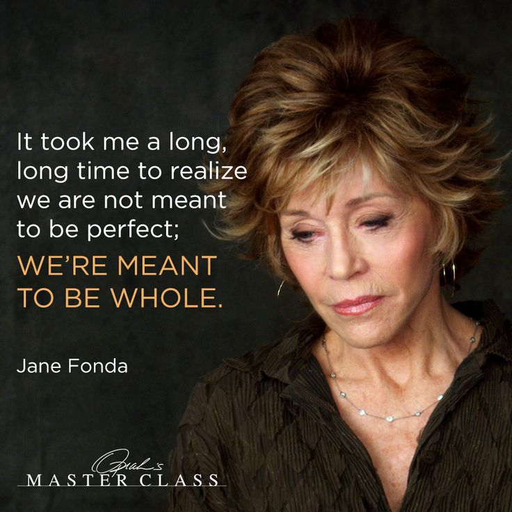 Celebrity Quotes Jane Fonda Quote About Perfection Quotes Daily