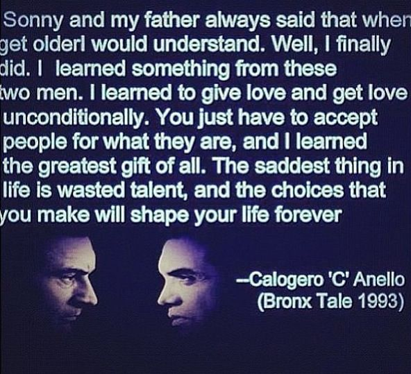 Celebrity Quotes/Lyrics : A Bronx Tale... - Quotes Daily ...