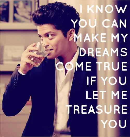 Bruno Mars Quotes Interesting Celebrity QuotesLyrics Let Me Treasure You Bruno Mars