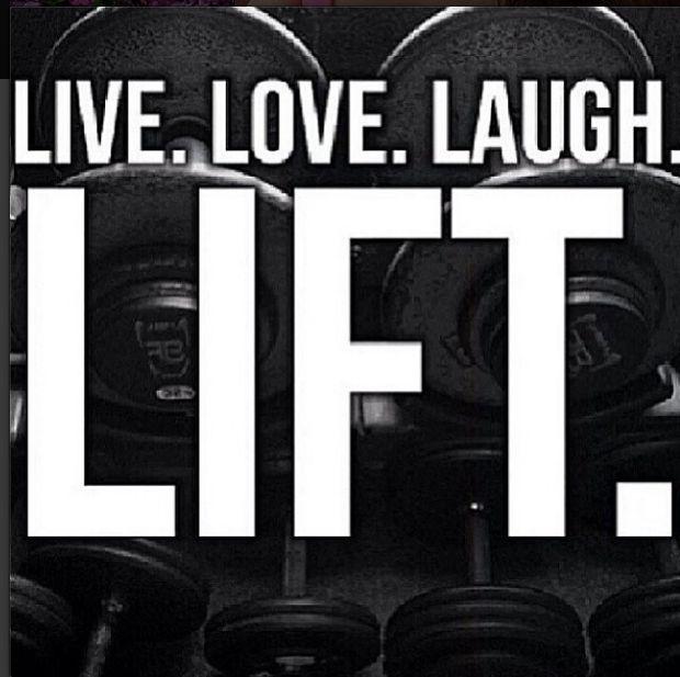 Motivational Fitness Quotes Live Love Laugh Lift Crossfit