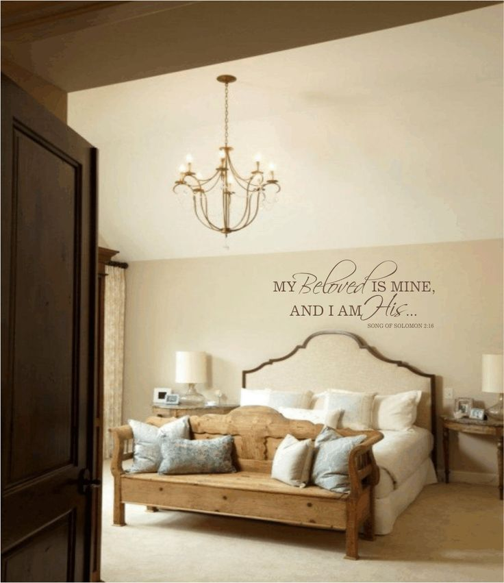 Master Bedroom Wall Decal My Beloved Is Mine And I Am His Quote Vin