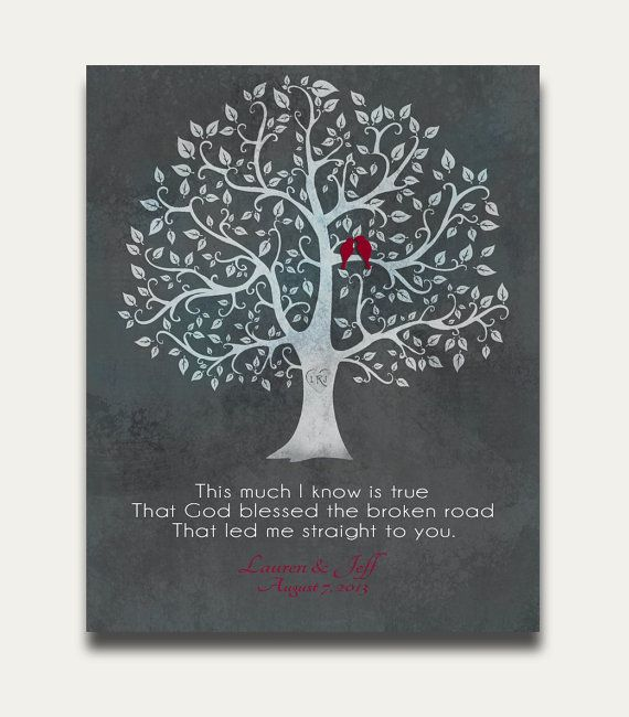 Wedding Gift For Those Who Have Everything: Quotes About Wedding & Love: Personalized Name Tree Love