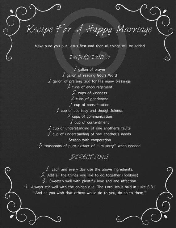 Quotes About Wedding \u0026 Love Recipe For A Happy Marriage