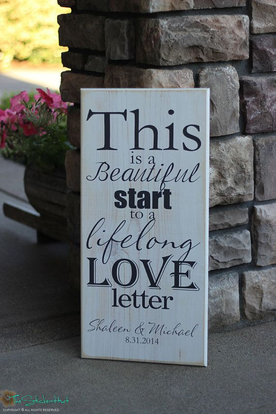 Wedding gift quotes sayings gallery wedding decoration ideas quotes about wedding love this is a beautiful start to a lifelong nursery decor junglespirit Image collections