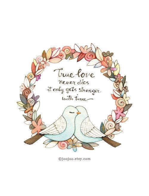 True Love Quote Quote Print Unique Wedding Gift By Joojoo On Etsy