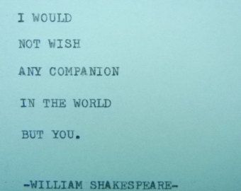 WILLIAM SHAKESPEARE Love Quote Typed On Typewriter Love Quoteu2026