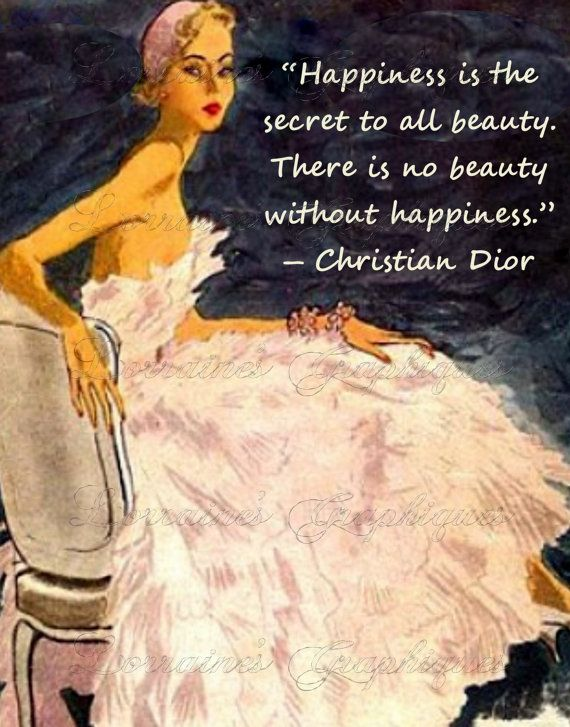 Celebrity Quotes : Dior Vintage Fashion Fine Art