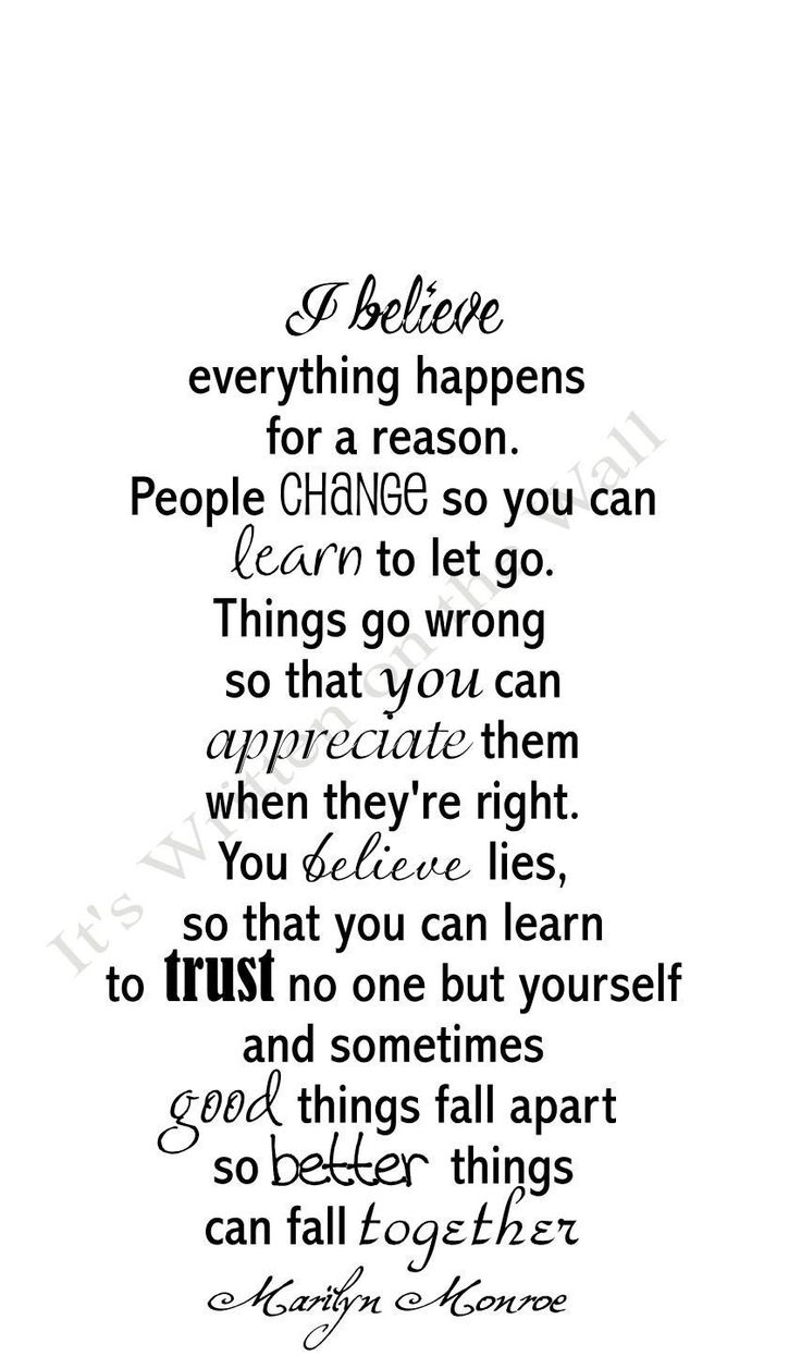 Marilyn Monroe Quote I Believe Everything Happens For A Reason Vinyl  Lettering Wall Saying 18×30 Size SHIPPING Is Only 2.99