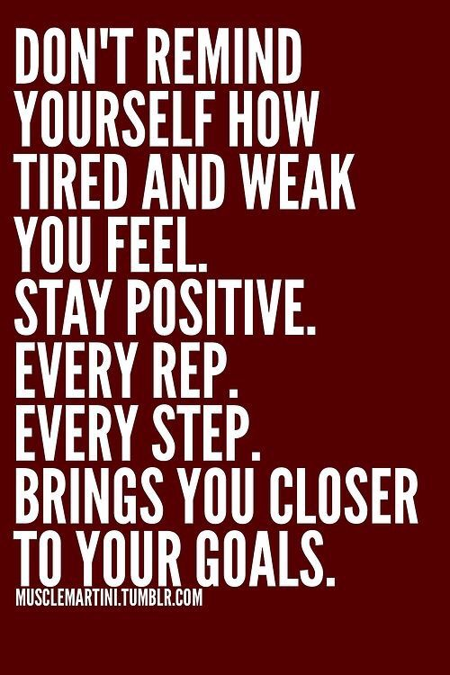 Motivational Fitness Quotes :Stay positive   Quotes Daily