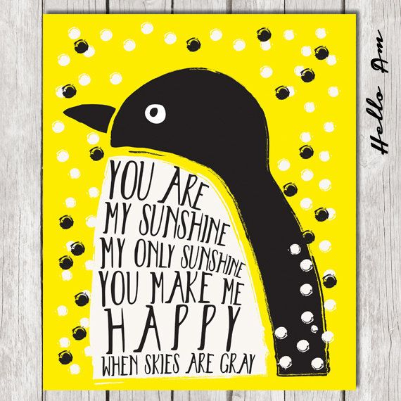 Quotes About Wedding & Love: You are my sunshine wall art ...