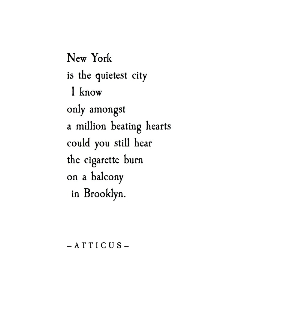 Love Poetry Quotes Love Quote  Atticuspoetry'balcony In Brooklyn' Atticuspoetry