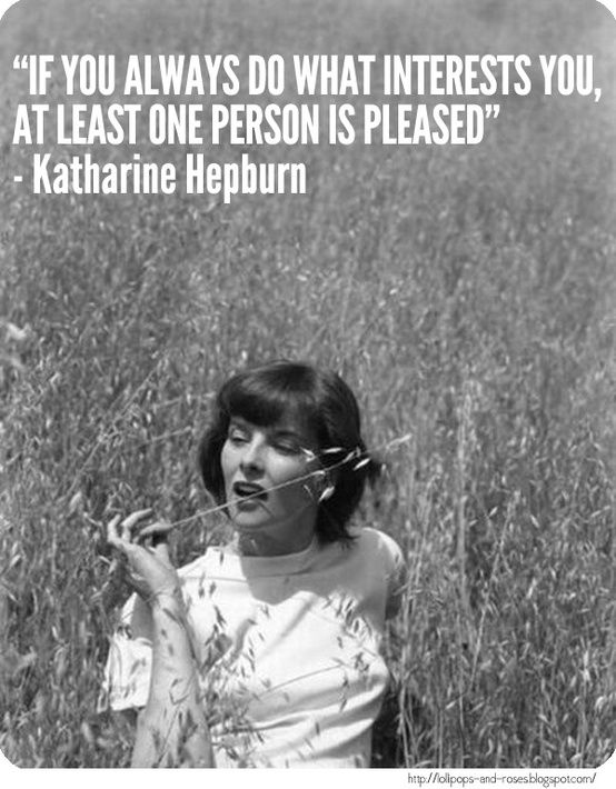 Celebrity Quotes Original Hipster Feminist Katharine Hepburn