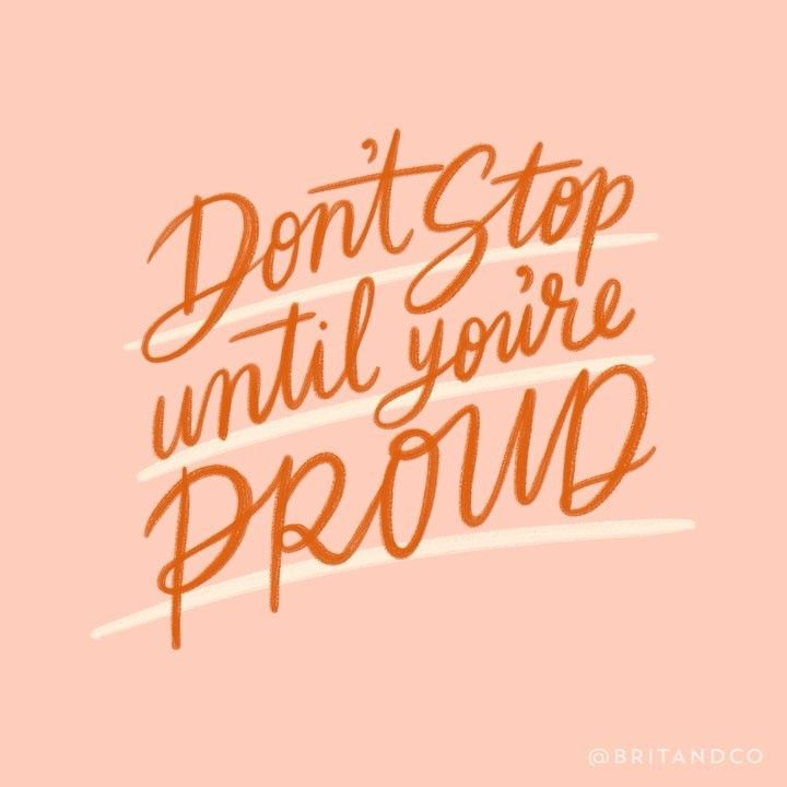Inspirational And Motivational Quotes :Don't stop until you're