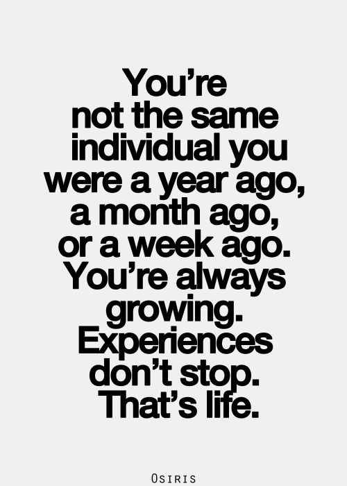 Quotes About Life :you are different person each day... - Quotes ...