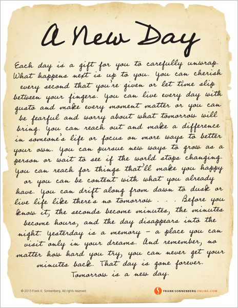 Motivational Quotes A New Day Values To Live By Www