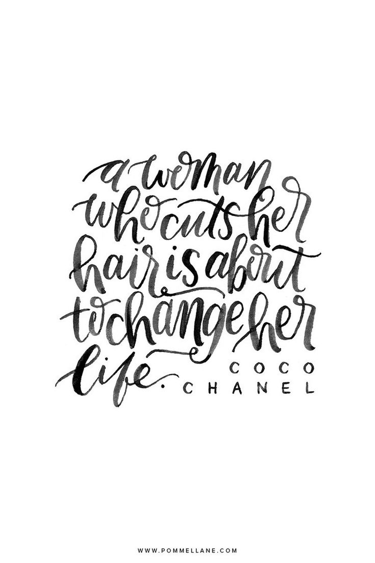 """Inspirational Quotes About Strength :""""A woman who cuts her hair is"""