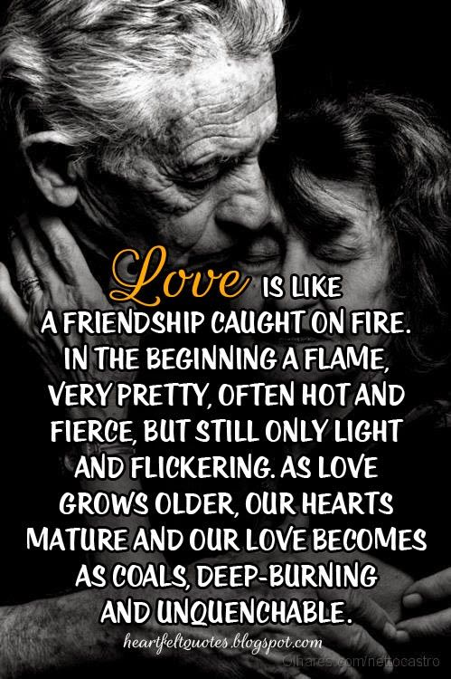 Love Quotes For Him For Her Love Is Like A Friendship Caught On