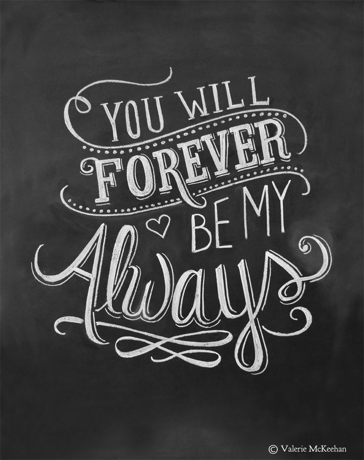 Love Quotes For Him For Her Wedding Print You Will Forever Be