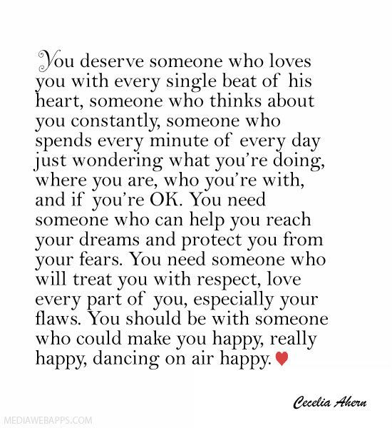 Love Quotes For Him For Her You Deserve Someone Who Loves You
