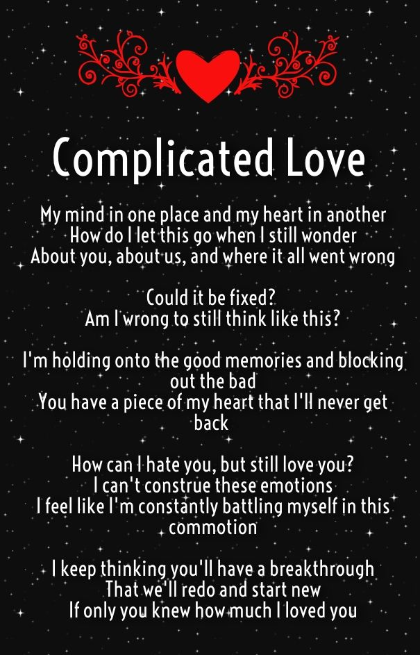 Complicated Love Poems For Complex Relationships Quotes Daily