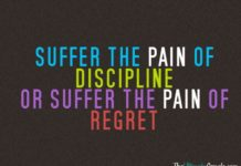 Motivational Fitness Quotes :Suffer The Pain Of Discipline Or Suffer Theu2026
