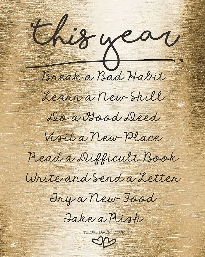 Quotes About Life :New Years Resolution Printable... PINT IT NOW AND ...