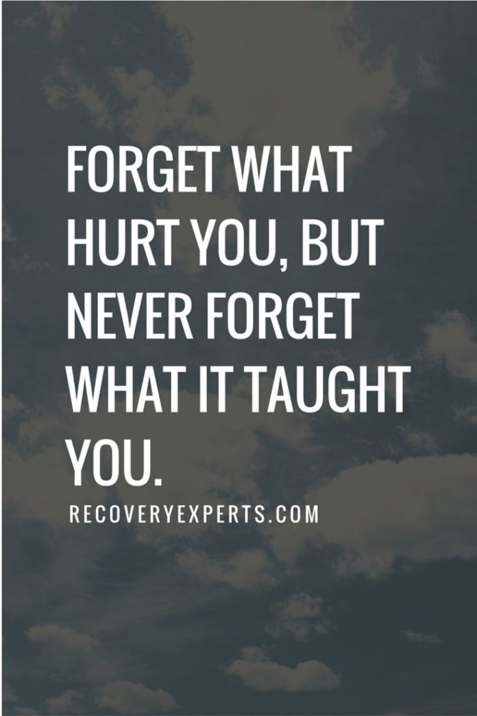Quotes About Life :Motivational Quotes: Forget What Hurt