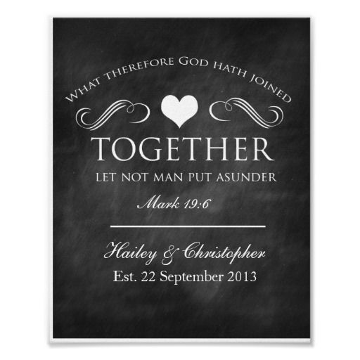 Wedding Quotes :Christian Chalkboard Wedding Print - Quotes ...