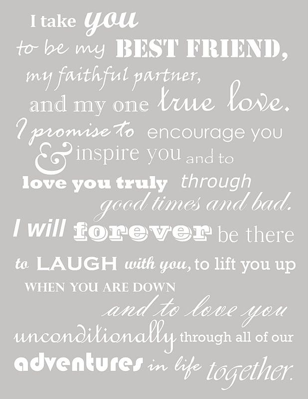 Wedding Quotes I Take You To Be My Best Friend My Faithful