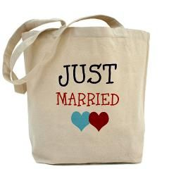 wedding quotes just married tote bag just married cuteness
