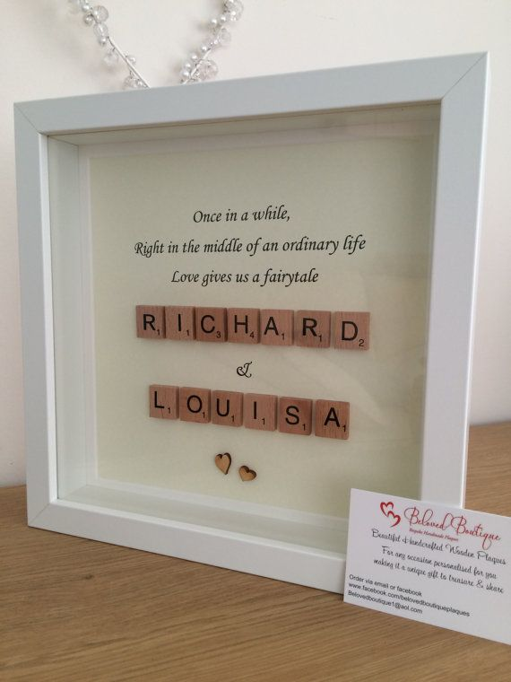 Fairytale Scrabble Frame Wedding Engagement Love - Quotes Daily ...