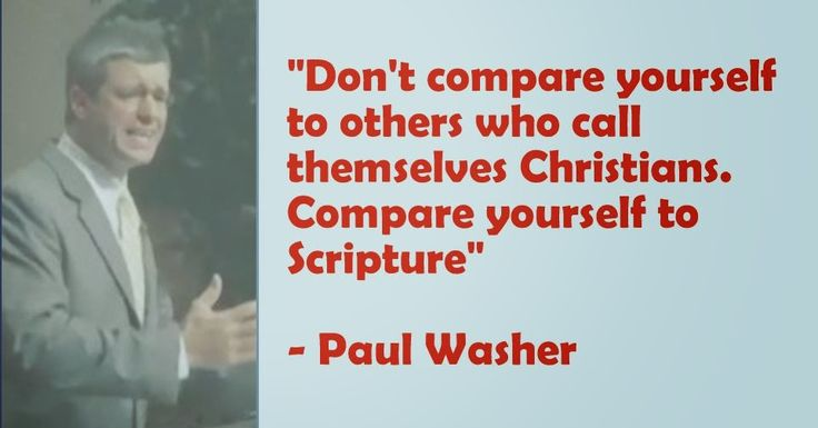 Dont Compare Yourself To Others Who Call Themselves Christians
