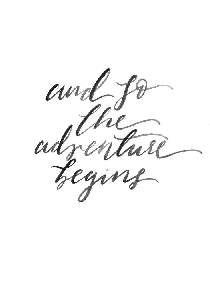 Wedding Quotes Adventure Print