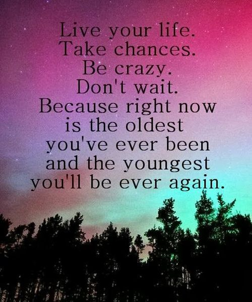 Live Your Life Quotes Quotes About Life :Live your life take chances.   Quotes Daily  Live Your Life Quotes