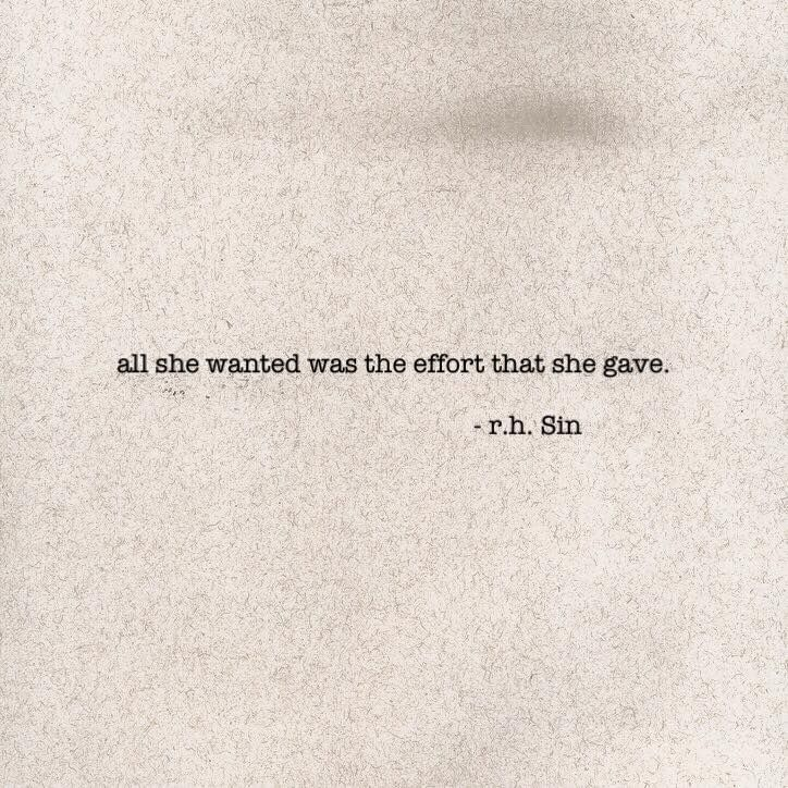Distance Quotes All She Wanted Was The Effort That She Gave