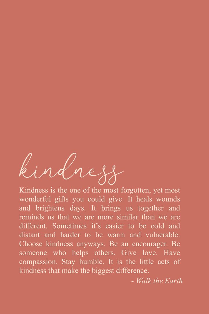 kindness   Words, Decor, Home decor  Kindness Captions